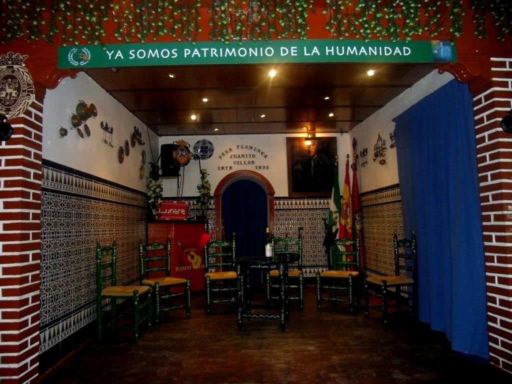 """Escenario de la peña flamenca """"Juanito Villar"""""""