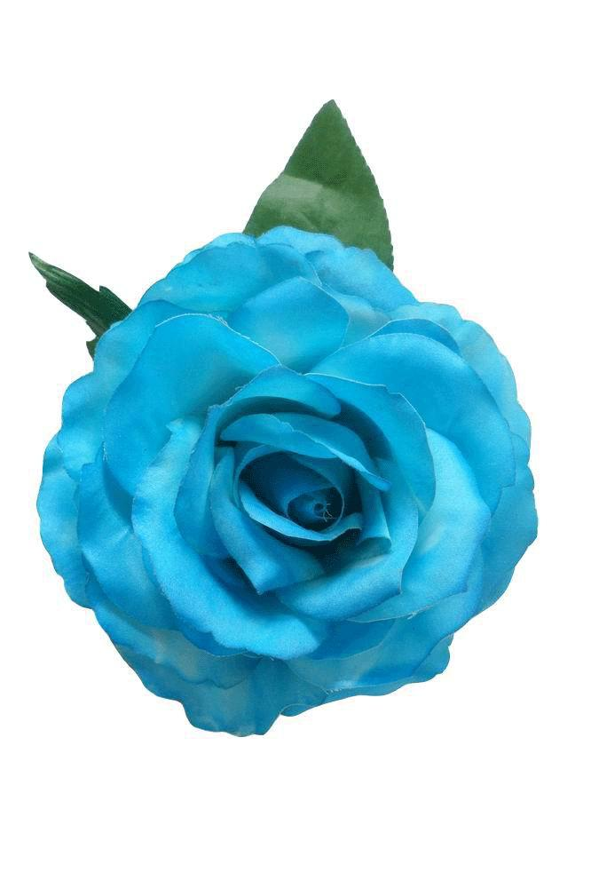 Flamenco flower  Mod  Marvelous Dyed Rose  Turquoise  16cm