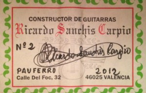 Ricardo Sanchis Carpio