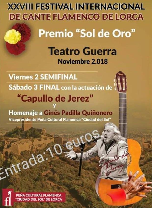 Festival Internacional FLamenco Ciudad del Sol - 2018- cartel oficial