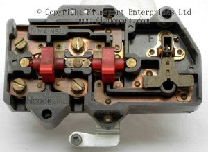 Plastic MK cooker switch and 13A socket outlet
