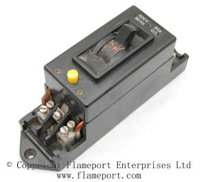 Obsolete Crabtree earth leakage circuit breaker with yellow test button