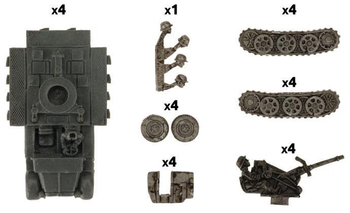 Sd Kfz 10/4 Light AA Platoon (GBX111)
