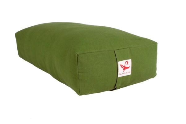 Olive green rectangular bolster from Flamingo online store in dubai