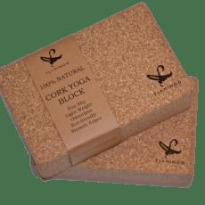 Cork Yoga blocks from Flamingo online store