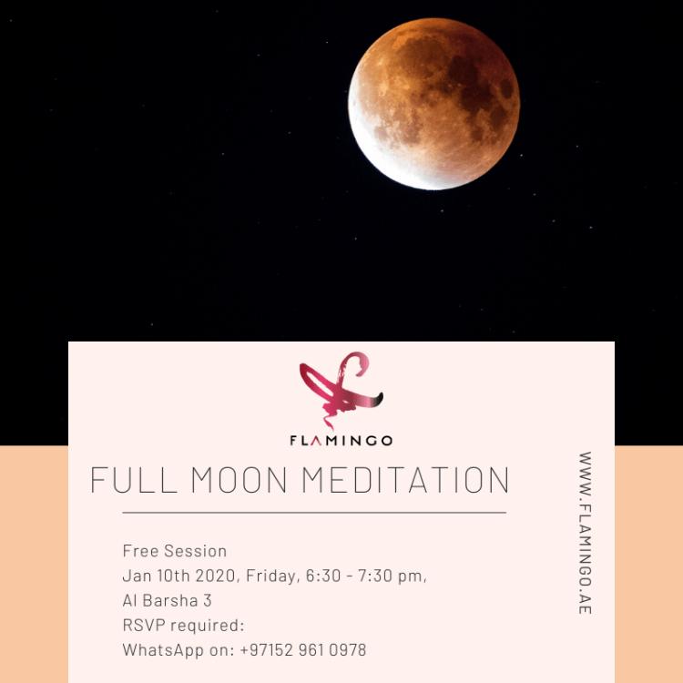 Full moon meditation, Al Barsha