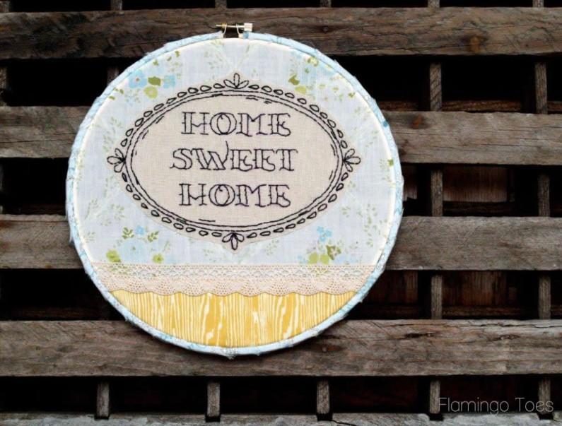 Home Sweet Home Hoop Art and Pattern