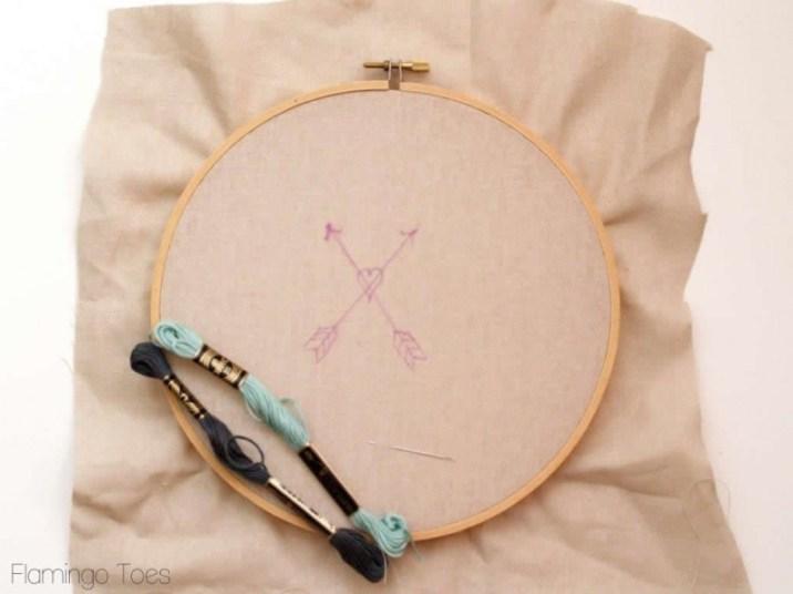 arrow embroidery pattern