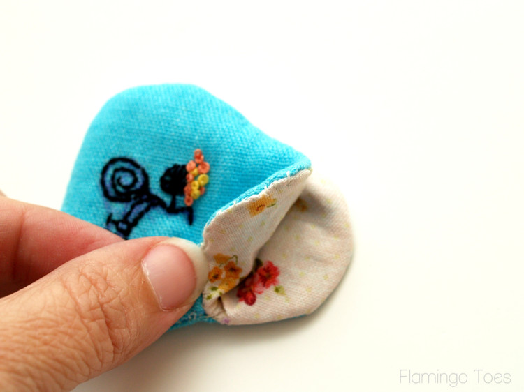Turning Coin Purse right side out