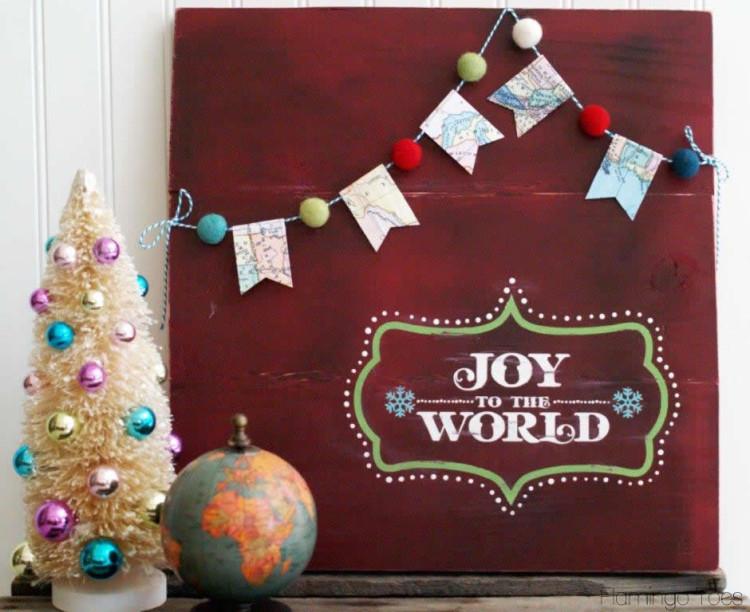 Joy to the World Wood Sign