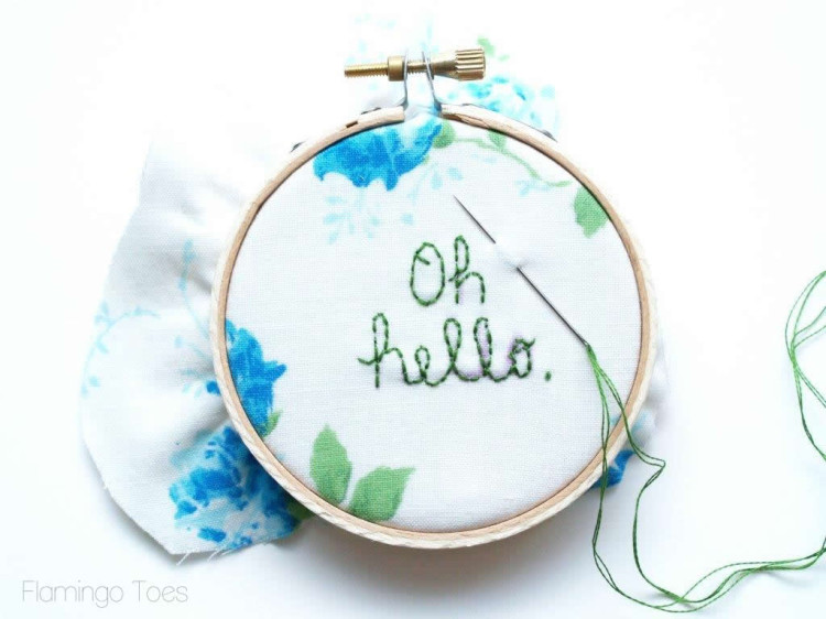 embroidering coin purse