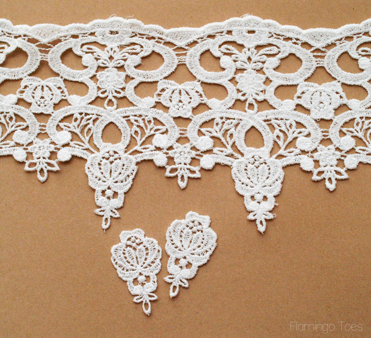 cutting lace for earrings