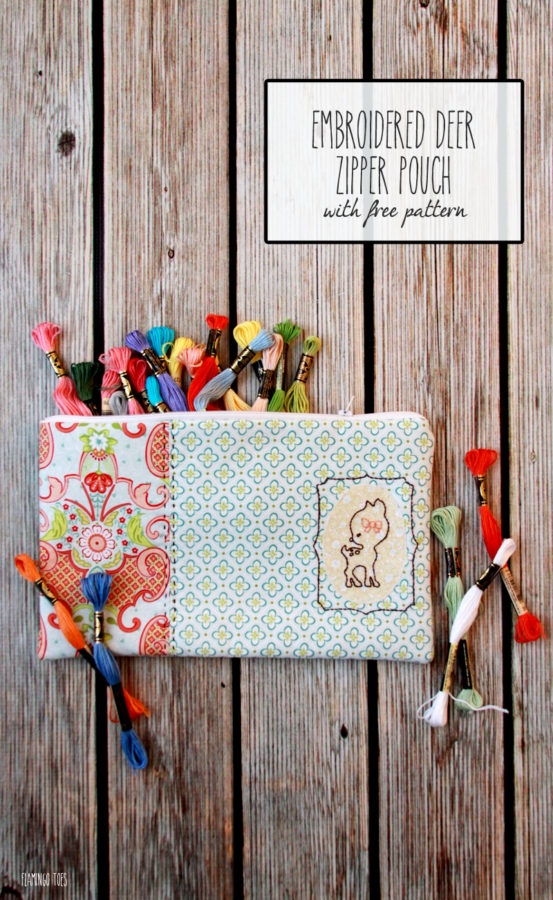 Embroidered-Deer-Zipper-Pouch-with-Free-Pattern