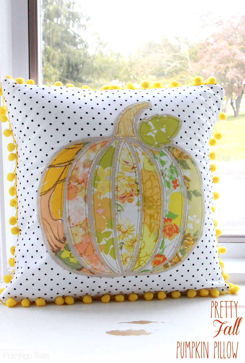 Pretty Fall Pumpkin Pillow