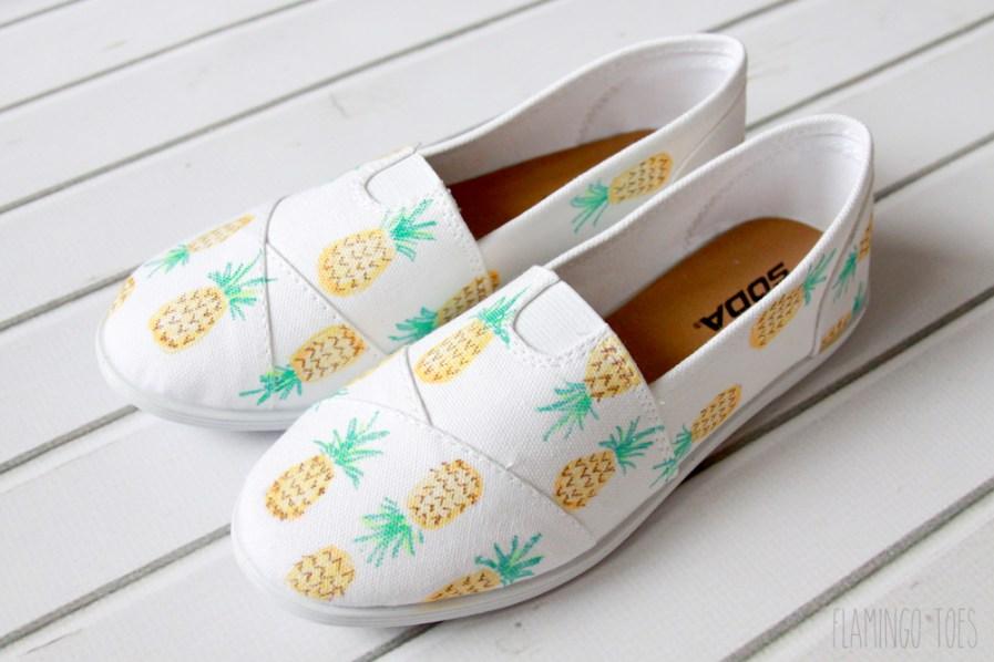 DIY Pineapple Shoes
