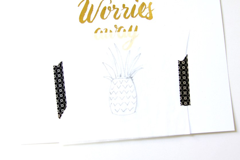 Tracing paper pineapple