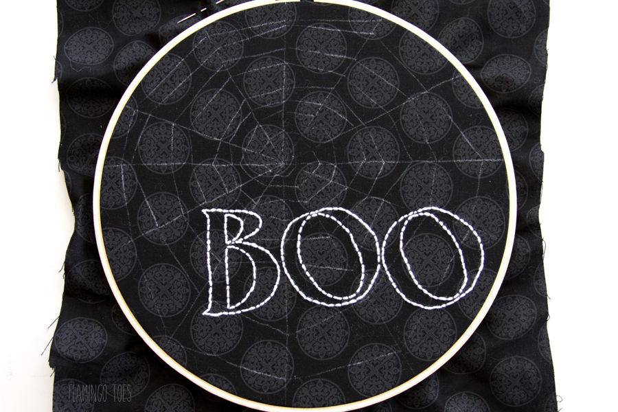 Boo Embroidery Letters