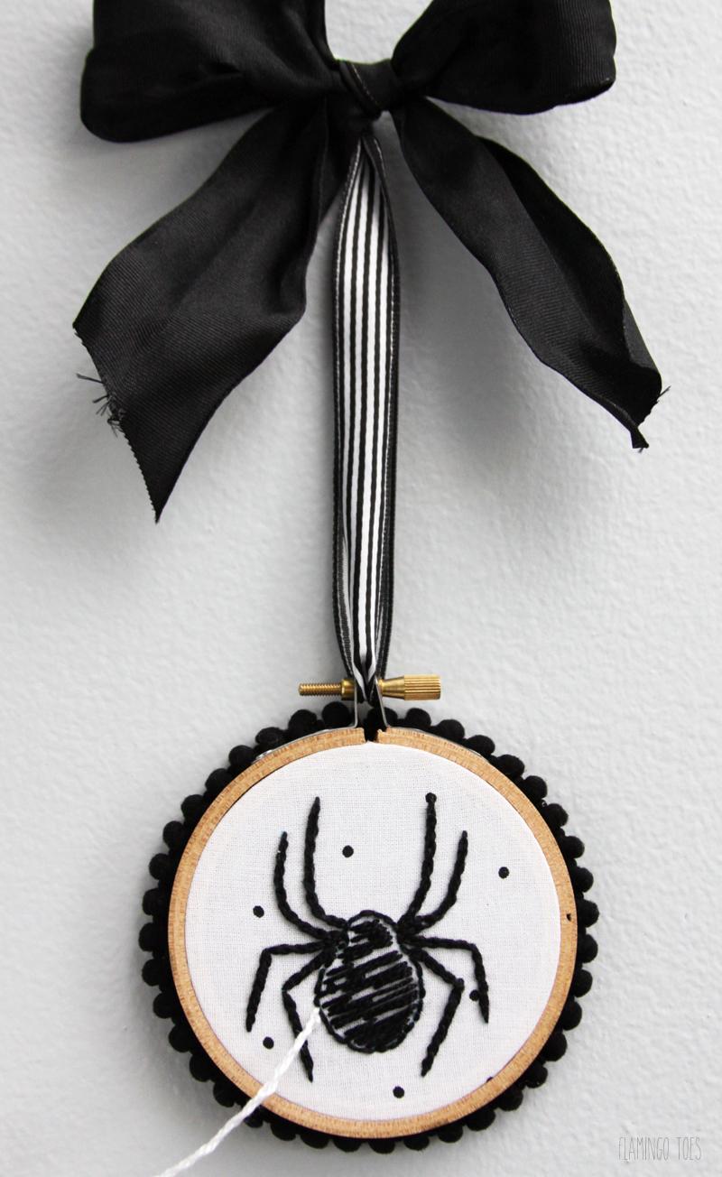 Spider Embroidery Hoop Art