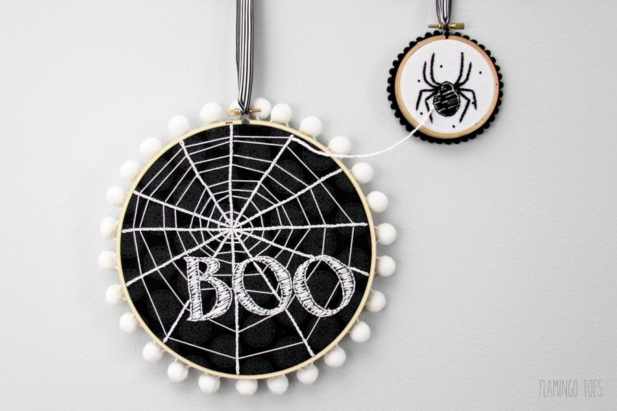 Spiderweb Hoop Art