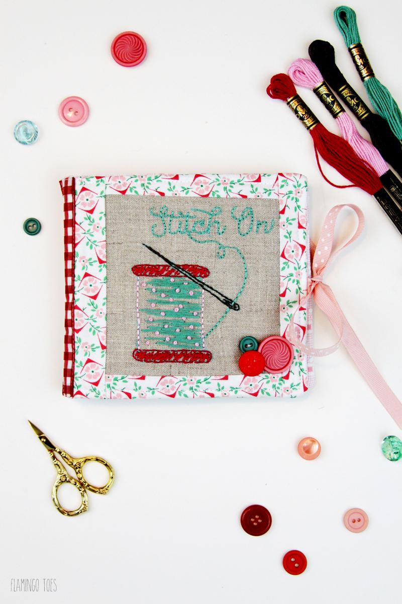 Felt and Fabric Needle Book