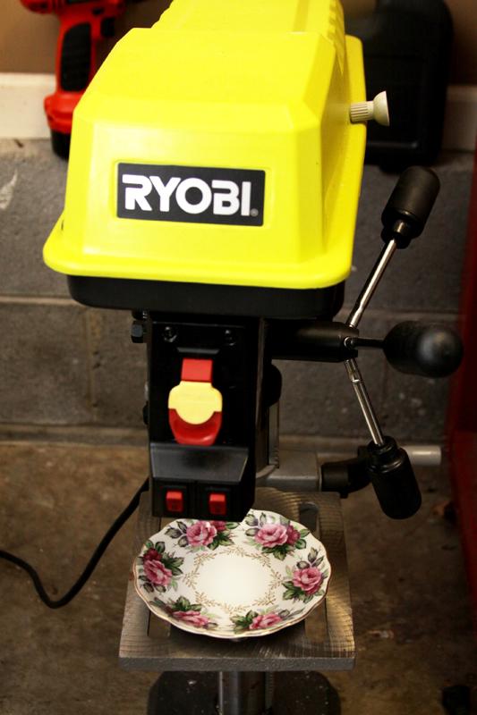Drilling holes in porcelain