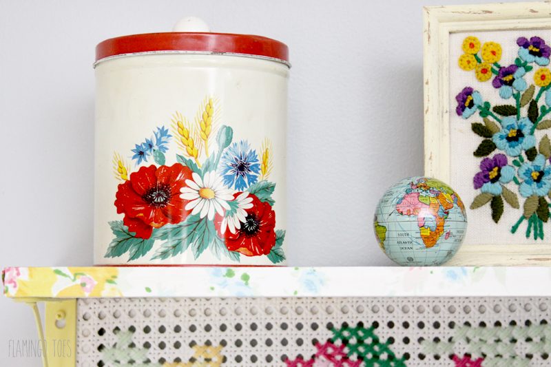 Vintage Cannister on Shelf