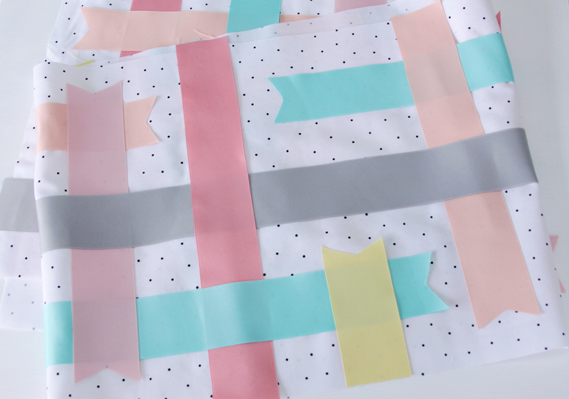 Ribbons fused to Fabric
