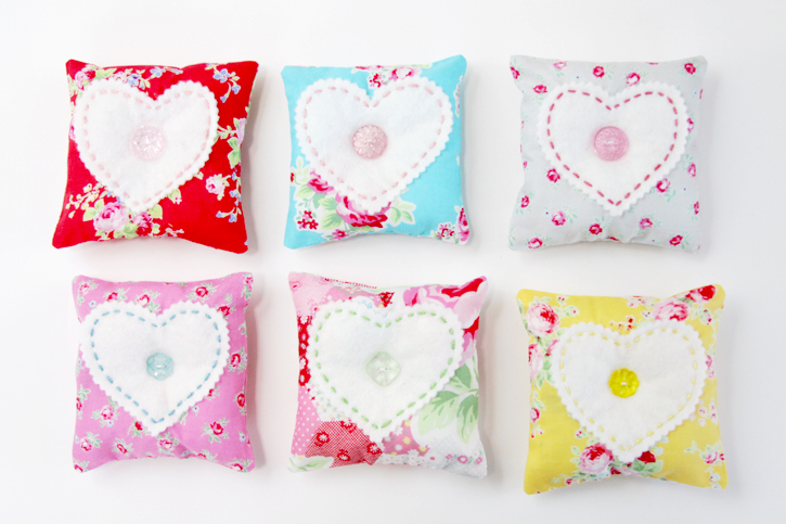 Fabric and Felt Heart Sachets