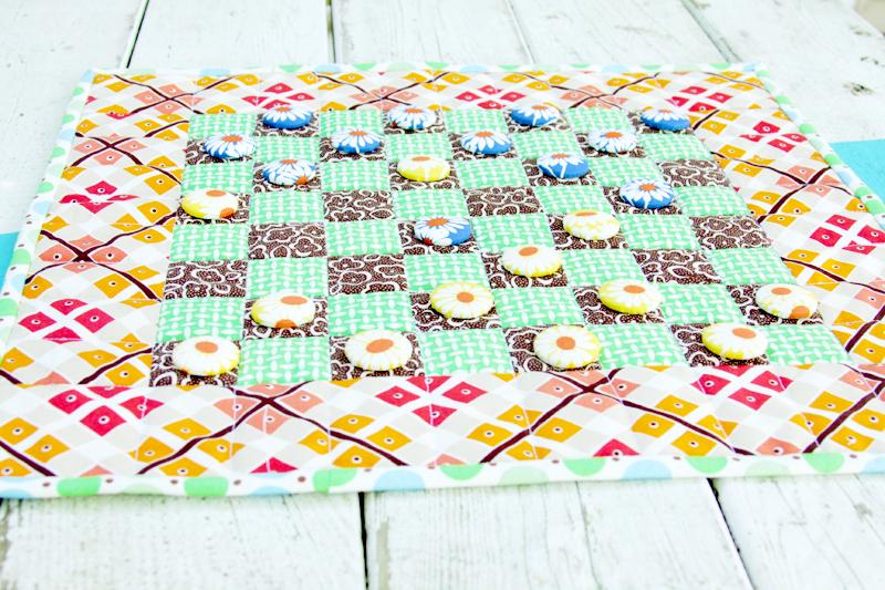Colorful Fabric Checkerboard