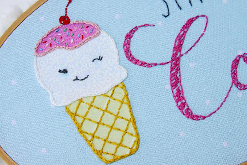 Cute Ice Cream Hoop Art