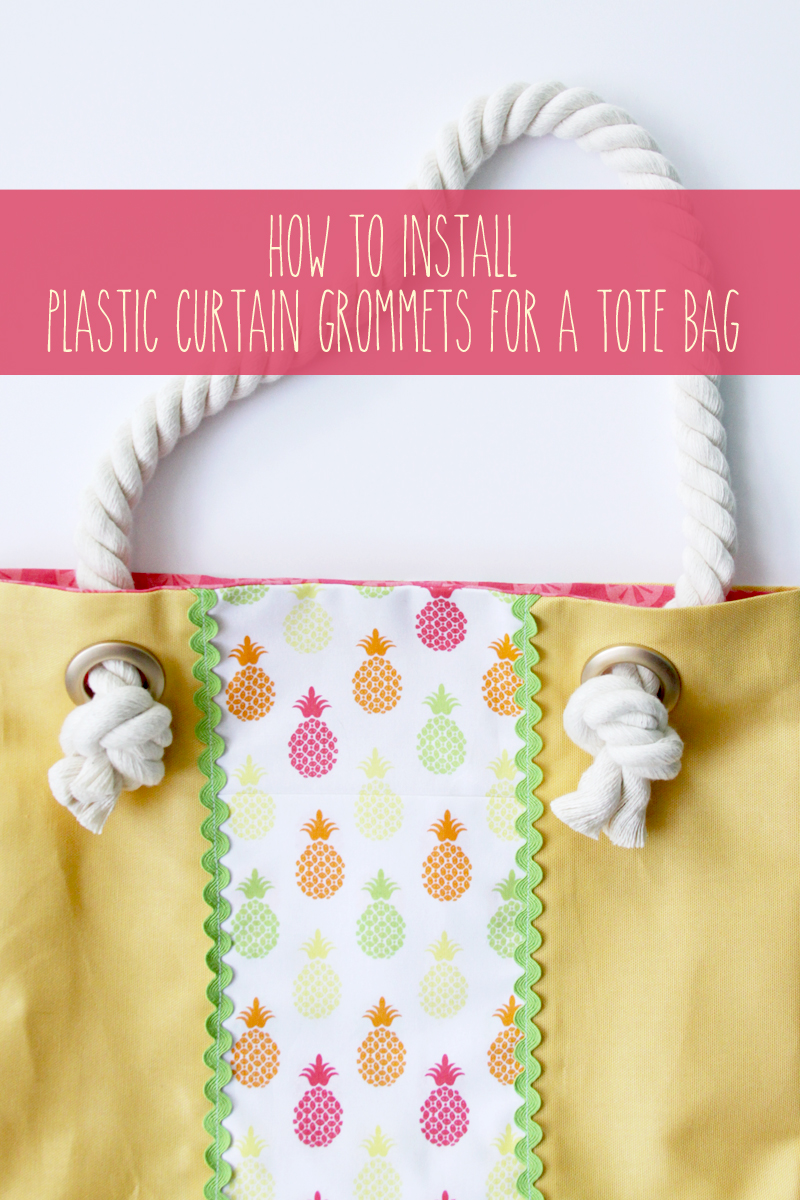 How to Install Plastic Curtain Grommets featured by top US sewing blog, Flamingo Toes