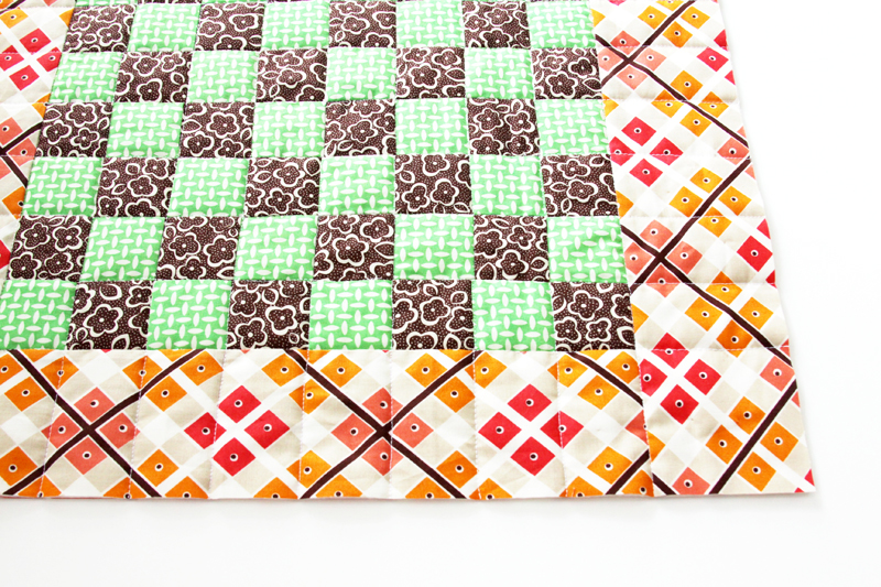 Quilting on Checkboard