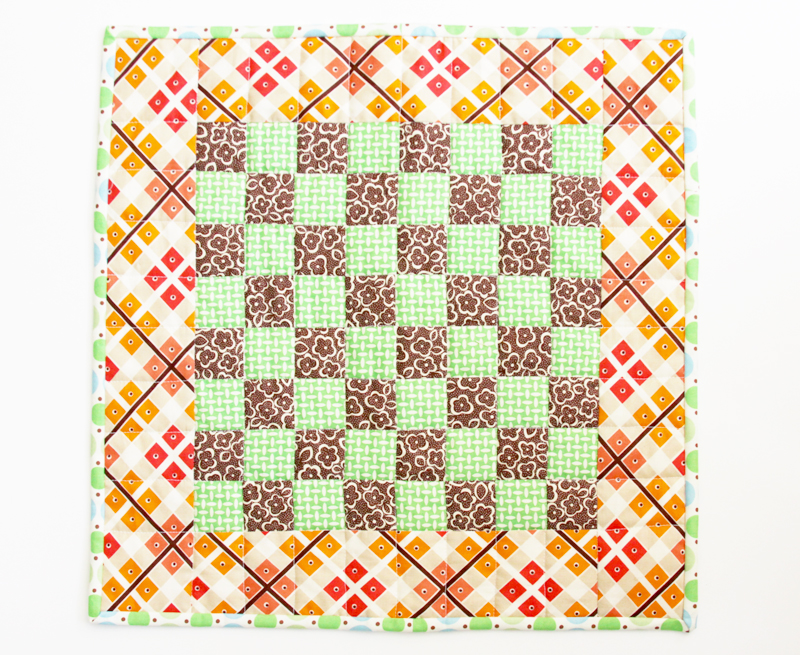 Qulted Checkboard Mini Quilt