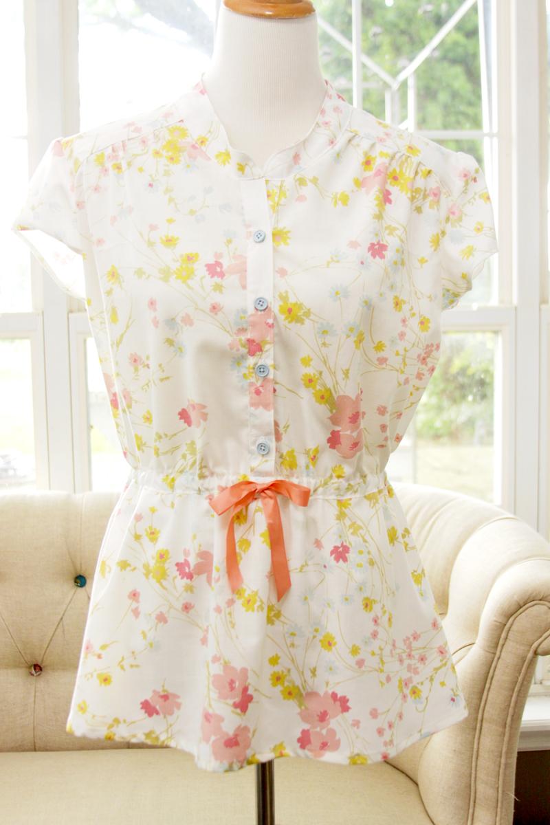 Vintage Fabric Marigold Top