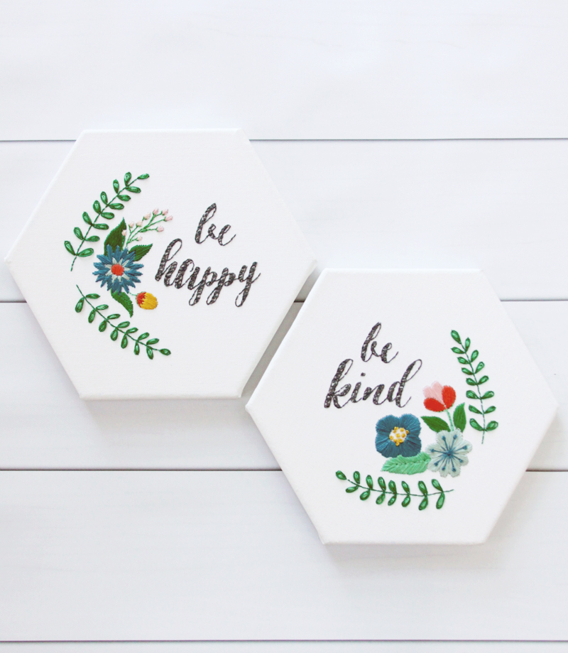 Be Happy and Be Kind - Free Embroidery Patterns