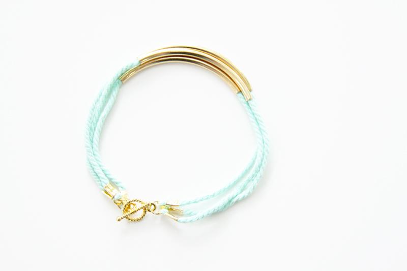 Gold Layered Cording Bracelet