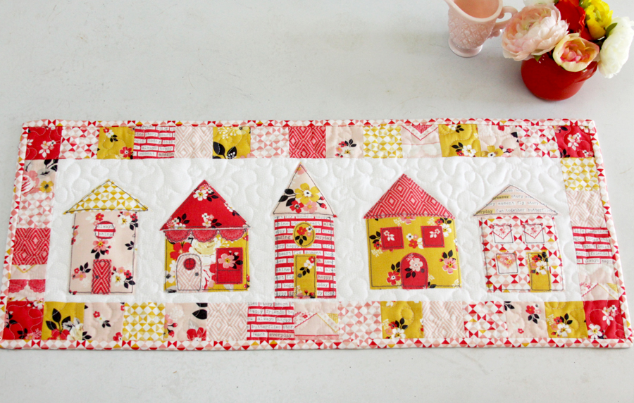Vintage Daydream Neighborhood Table Runner with Free Pattern