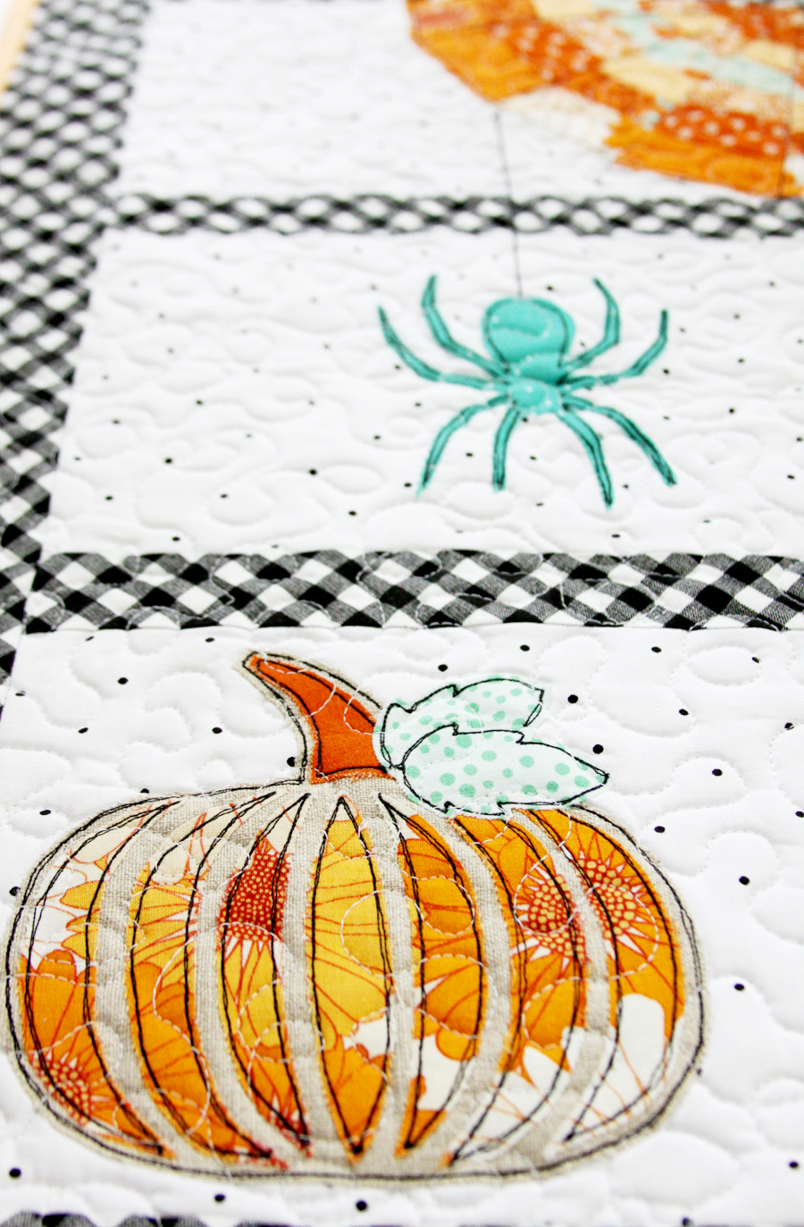 Spinning Spiderwebs Mini Quilt