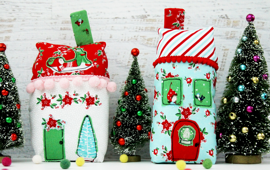 Christmas Town Fabric Village