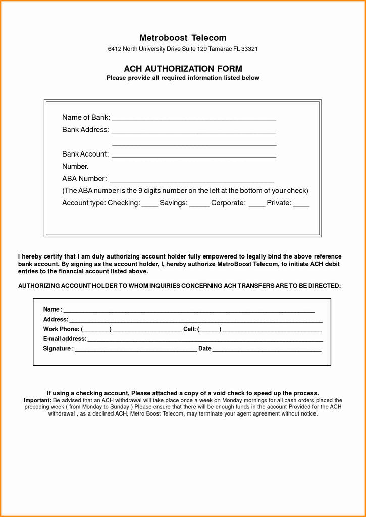An ach authorization form is used by businesses and nonprofits to obtain ach authorization from their customers or donors, letting them process ach or direct deposit payments with consent. Vendor Ach Authorization Form Inspirational Direct Deposit Authorization Form Template Lovely Direct Deposit Models Form Ideas