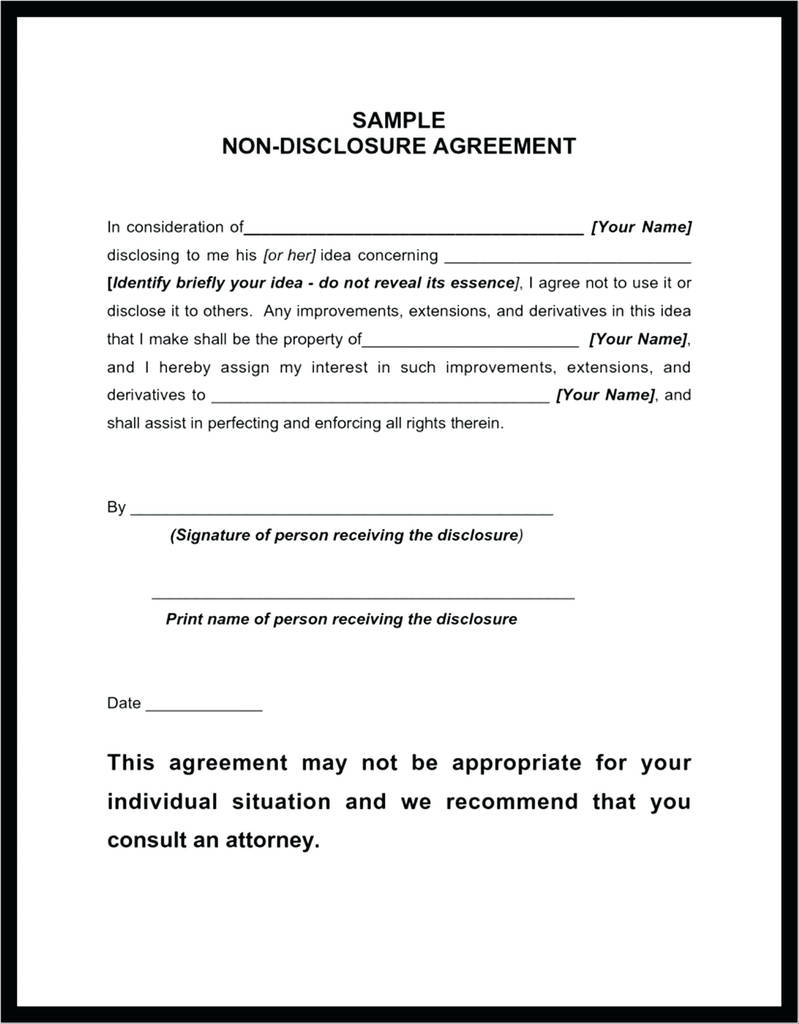 Recipient may not assign this agreement or any interest herein without owner's express Contractor Non Disclosure Agreement Elegant Nda Agreement Template Canada Islaevodiario Models Form Ideas