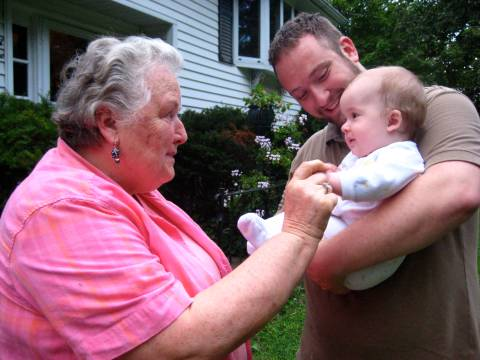 Grandma playing with Ethan