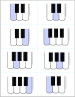 free piano key flashcards
