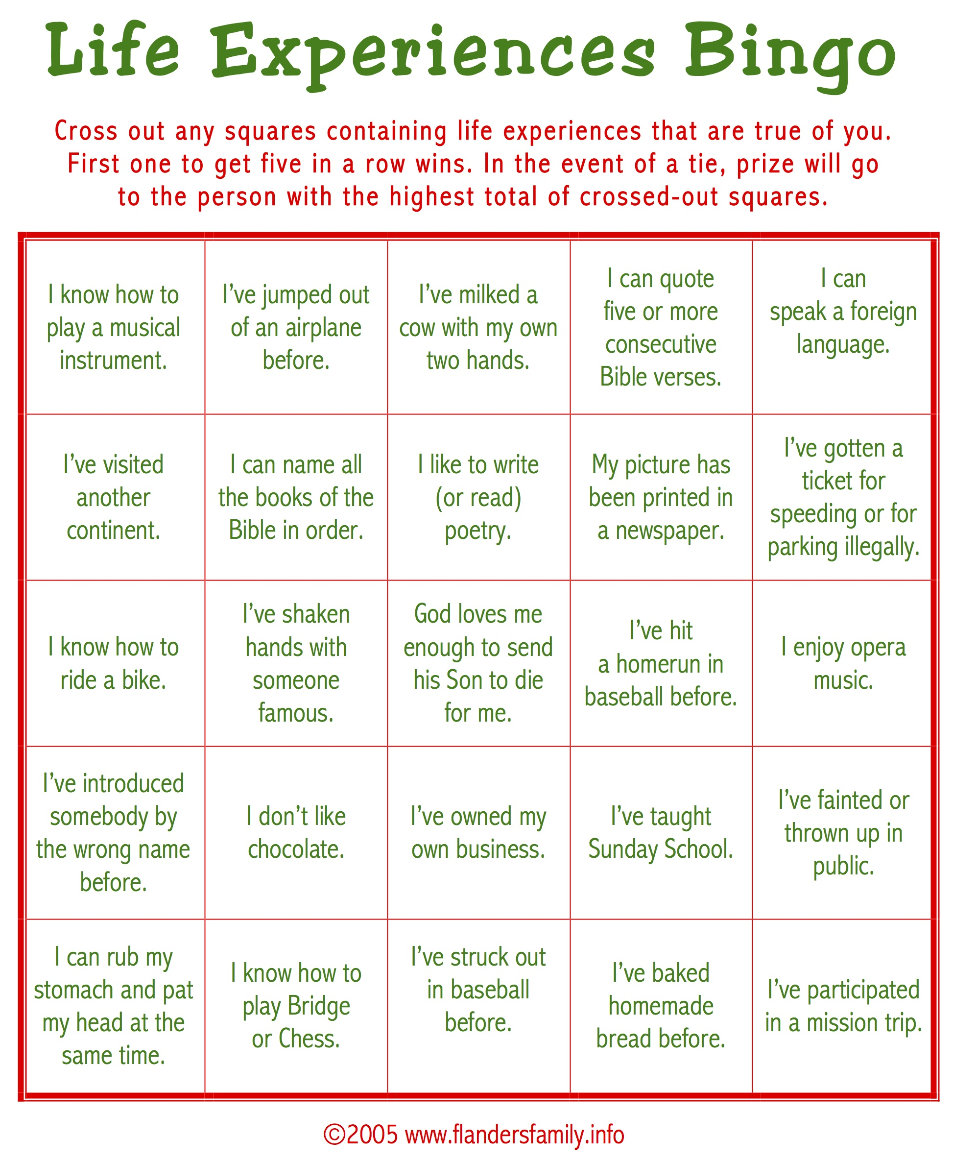 Ice Breaker Bingo Free Printable