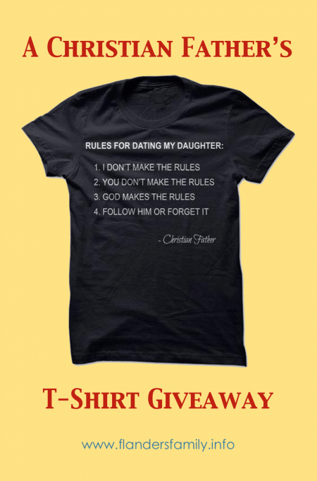 T-Shirt Giveaway this week at www.flandersfamily.info
