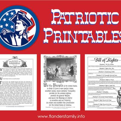 Free Patriotic Printables {including Bill of Rights}