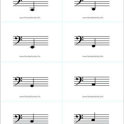 Mailbag: Musical Note Flashcards (Extended)