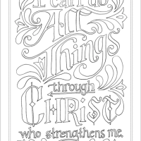 """I Can Do All Things"" Coloring Page"