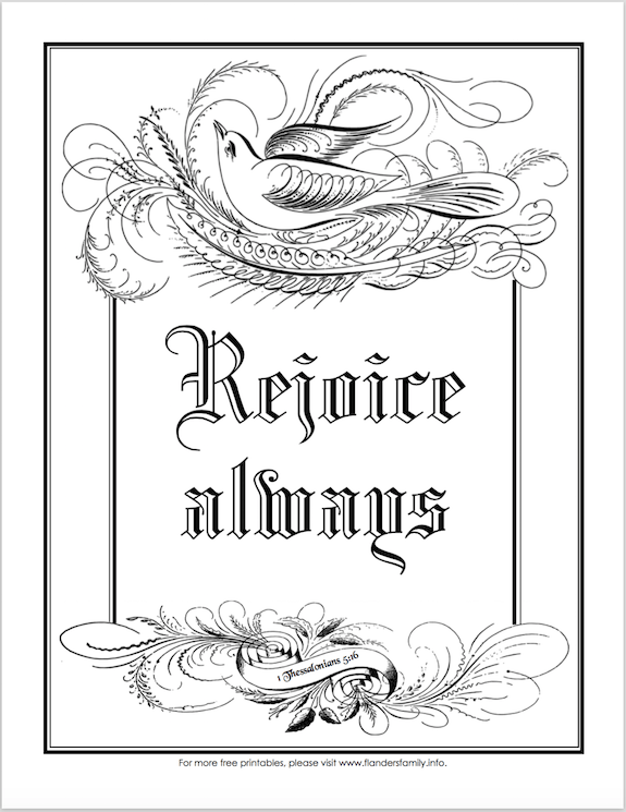 rejoice coloring pages - photo#2