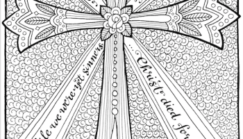 Free Coloring Page The Cross Of Christ